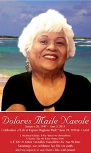 Dolores Maile  Naeole